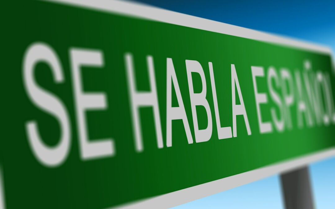 This sign helps to enforce the importance of investing in quality Spanish translations.